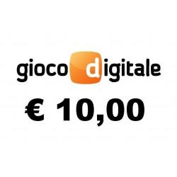 Ricarica GIOCO DIGITALE 10,00 EURO
