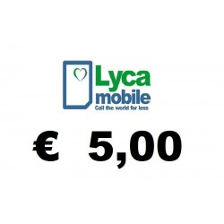 Ricarica pin LYCAMOBILE € 5,00
