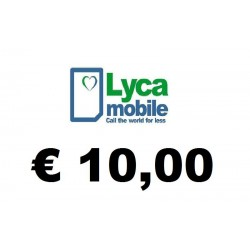 Ricarica pin LYCAMOBILE € 10,00