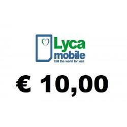 Ricarica pin LYCAMOBILE € 10,00