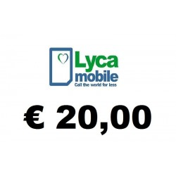 Ricarica pin LYCAMOBILE € 20,00