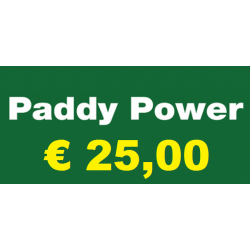 Ricarica PADDY POWER € 25,00