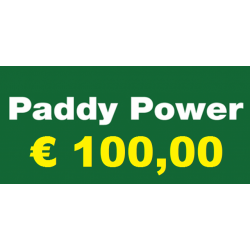 Ricarica PADDY POWER € 100,00