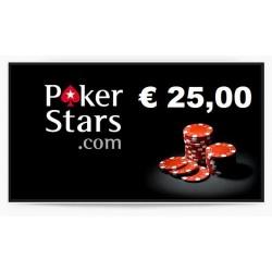 Ricarica POKERSTARS 25,00 euro