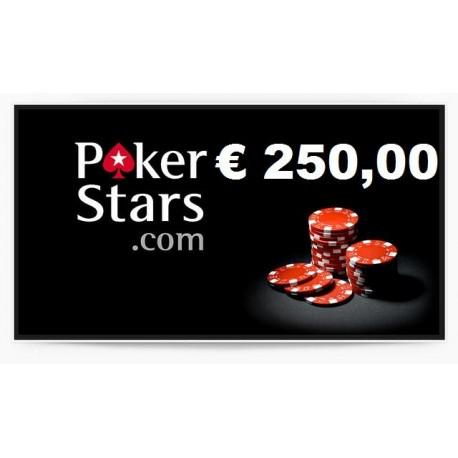 Ricarica POKERSTARS 250,00 euro
