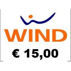 Ricarica WIND online 15,00 EURO