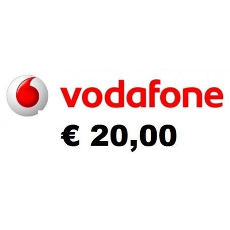 Ricarica Vodafone online 20,00 EURO