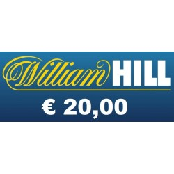 Ricarica WILLIAM HILL € 20,00