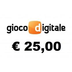 Ricarica GIOCO DIGITALE € 25,00