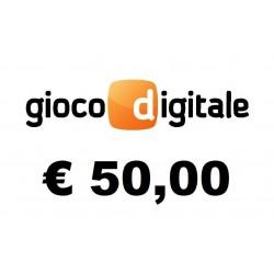 Ricarica GIOCO DIGITALE € 50,00