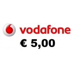 Ricarica Vodafone online 5,00 EURO