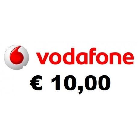 Ricarica Vodafone online 10,00 EURO