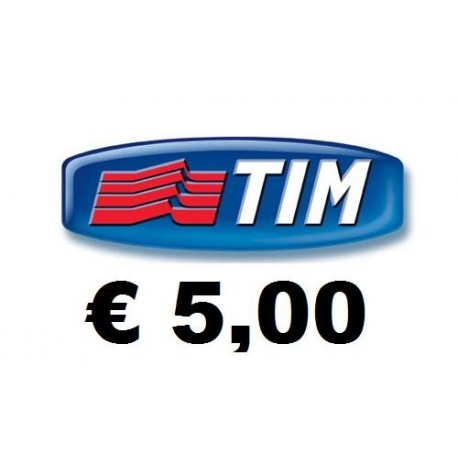 Ricarica TIM online 5,00 EURO