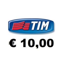 Ricarica TIM online 10,00 EURO