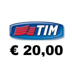 Ricarica TIM online 20,00 EURO