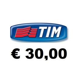 Ricarica TIM online 30,00 EURO