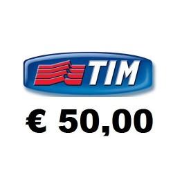 Ricarica TIM online 50,00 EURO