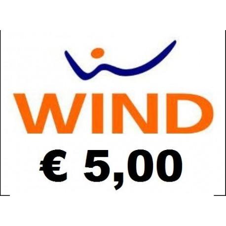 Ricarica WIND online 5,00 EURO