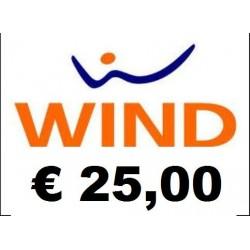 Ricarica WIND online 25,00 EURO
