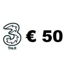 Ricarica TRE online 50,00 EURO