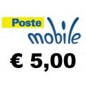 Ricarica POSTEMOBILE online 5,00 EURO