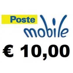 Ricarica POSTEMOBILE online 10,00 EURO