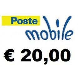 Ricarica POSTEMOBILE online 20,00 EURO