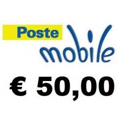 Ricarica POSTEMOBILE online 50,00 EURO