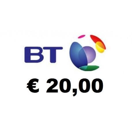 Ricarica BT Mobile 20,00 EURO