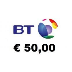 Ricarica BT Mobile 50,00 EURO