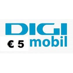 Ricarica DIGI MOBIL online 5,00 EURO