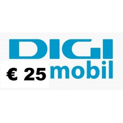 Ricarica DIGI MOBIL online 25,00 EURO