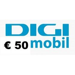 Ricarica DIGI MOBIL online 50,00 EURO