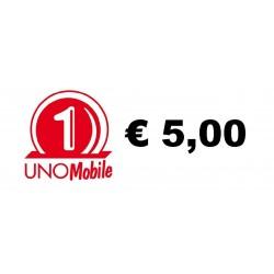 Ricarica UNO Mobile online 5,00 EURO