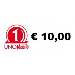 Ricarica UNO Mobile online 10,00 EURO