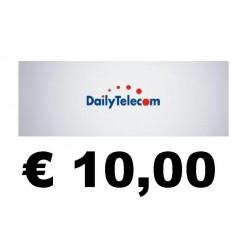 Ricarica DAILY Telecom online 10,00 EURO
