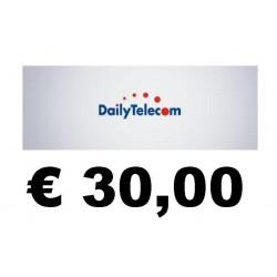 Ricarica DAILY Telecom online 30,00 EURO
